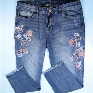 White House Black Market Jeans - WHBM embroidered distressed ankle jeans 10